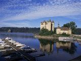 Chateau De Val, River Dordogne, Bort-Les-Orgues, Cantal Department, Auvergne, France Photographic Print by Charles Bowman