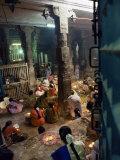 Worshippers at a Shrine Inside the Sri Meenakshi Temple, Madurai, Tamil Nadu State, India Photographic Print by Richard Ashworth