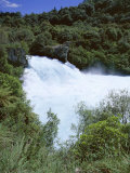 The Huka Falls, Known as Hukanui (Great Body of Spray) in Maori, 10M High, Waikato River Photographic Print by Jeremy Bright