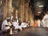 Entrance Hall (East Gate) to the Sri Meenakshi Temple, Madurai, Tamil Nadu State, India Photographic Print by Richard Ashworth