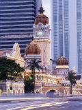 Sultan Abdu Samad Building, Kuala Lumpur Law Court, Illuminated at Night, Kuala Lumpur, Malaysia Photographic Print by Charcrit Boonsom