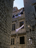 Washing Lines, Old Town, Dubrovnik, Croatia Photographic Print by Nelly Boyd
