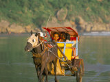 Horse and Cart at the Sanctuary of Ratu Kidul, Parang-Tritis Beach, Island of Java, Southeast Asia Photographic Print by Bruno Barbier
