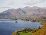 View Across Derwent Water to Keswick and Skiddaw from Watendlath Road in Autumn Photographic Print by Pearl Bucknall