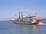 Paddle Steamer 'Natchez' on the Mississippi River, New Orleans, Louisiana, USA Photographic Print by Bruno Barbier