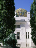 Statue of Mark Anthony and Secession Building, Vienna, Austria Photographic Print by Jean Brooks