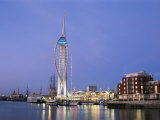 Spinnaker Tower at Twilight, Gunwharf Quays, Portsmouth, Hampshire, England, United Kingdom Photographic Print by Jean Brooks