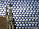 Selfridges Building and St. Martin's Church, Bullring, Birmingham, England, United Kingdom Photographic Print by Jean Brooks