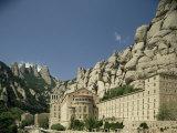 Monastery of Montserrat, Near Barcelona, Catalonia, Spain Photographic Print by Michael Busselle