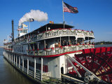 Bruno Barbier - Paddle Steamer 'Natchez', on the Edge of the Mississippi River in New Orleans, Louisiana, USA Fotografická reprodukce
