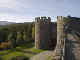 Walls Walk West to Mill Gate Towers Entrance, with View of Medieval Walls, Conwy, Wales Photographic Print by Pearl Bucknall