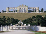 Gloriette and Neptune Fountain, Schonbrunn Gardens, Unesco World Heritage Site, Vienna, Austria Photographic Print by Jean Brooks