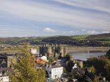 Medieval Conwy Castle, Unesco World Heritage Site, from Walls Walk, Conwy Photographic Print by Pearl Bucknall