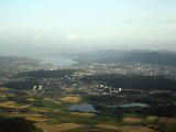 Aerial View of the City, Lakes and Surrounding Hills, Zurich, Switzerland Photographic Print by Jean-luc Brouard