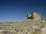 View of Castle, Consuegra, Toledo, Castile La Mancha, Spain Photographic Print by Michael Busselle