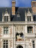 Facade De L'Aile Louix XII, Chateau of Blois, Pays De Loire, Loire Valley, France Photographic Print by Bruno Barbier
