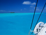 On Board 'Milena I', Lagoon 570, Society Islands Archipelago, French Polynesia Photographic Print by Bruno Barbier