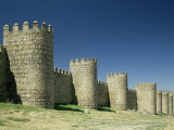 City Walls, Avila, Unesco World Heritage Site, Castile Leon, Spain Photographic Print by Michael Busselle
