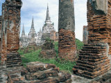 Ruins in the Old Capital of Ayutthaya, Unesco World Heritage Site, Thailand, Southeast Asia Photographic Print by Bruno Barbier