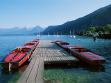 Boats by the Lake, Wolfgangsee, Austria Photographic Print by Jean Brooks