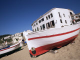 Fishing Boat on the Beach, Calella De Palafrugell, Costa Brava, Catalonia, Spain Photographic Print by Jean Brooks