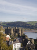 Medieval Conwy Castle, Unesco World Heritage Site, with River Conwy Estuary Beyond, Conwy, Wales Photographic Print by Pearl Bucknall