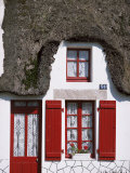 Traditional Cottage Detail, La Grande Briere, Morbihan, Brittany, France Photographic Print by Michael Busselle