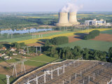 Nuclear Power Station of Saint Laurent-Des-Eaux, Pays De Loire, Loire Valley, France Photographic Print by Bruno Barbier
