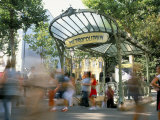 Entrance to the Metro at Abbesses, Montmartre, Paris, France Photographic Print by Jean Brooks