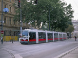 New Style Tram on Ring, Vienna, Austria Photographic Print by Jean Brooks