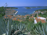 Town of Hvar, Hvar Island, Dalmatia, Dalmatian Coast, Adriatic, Croatia Photographic Print by Bruno Barbier