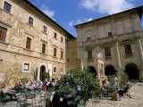 Cafe, Piazza Grande, Montepulciano, Tuscany, Italy Photographic Print by Jean Brooks