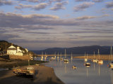 Boats in the Evening Sun at Low Tide on the Dovey Estuary, Aberdovey, Gwynedd, Wales Photographic Print by Pearl Bucknall