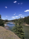 Bow River at Mount Temple Viewpoint on the Trans-Canada Highway, Banff National Park, Alberta Photographic Print by Pearl Bucknall