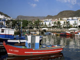 Fishing Boats in the Old Port Area, Puerto De Mogan, Gran Canaria, Canary Islands, Spain Photographic Print by Pearl Bucknall