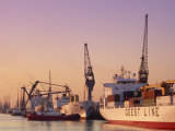 Container Ships, Southampton Docks, Hampshire, UK Photographic Print by Jean Brooks