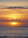 Sunset Over Sea, Costa Del Sol, Andalucia (Andalusia), Spain, Mediterranean Photographic Print by Michael Busselle