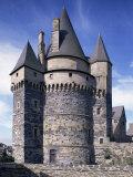 Chateau, Vitre, Ille-Et-Vilaine, Brittany, France Photographic Print by Michael Busselle