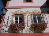 Detail of Painted House, Zell Am See, Austria Photographic Print by Jean Brooks