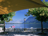 View of the Lake from Cafe, Zell Am See, Austria Photographie par Jean Brooks