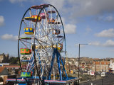 Big Ferris Wheel in Luna Park Amusements Funfair by Harbour, Scarborough, North Yorkshire, England Photographic Print by Pearl Bucknall