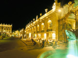 Place Stanislas at Night, Nancy, Meurthe-Et-Moselle, Lorraine, France Photographic Print by Bruno Barbier