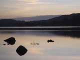 Sunset on Coniston Water in Autumn, Coniston, Lake District National Park, Cumbria, England Photographic Print by Pearl Bucknall