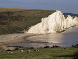 The Seven Sisters, East Sussex, England, United Kingdom Photographic Print by Jean Brooks