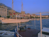 Port and Town of Makarska, Dalmatia, Dalmatian Coast, Adriatic, Croatia Photographic Print by Bruno Barbier