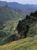 Mountain Scenery on Road to Artena, Gran Canaria, Canary Islands, Spain Photographic Print by Jean Brooks