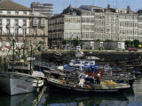 Harbour, La Coruna, Galicia, Spain Photographic Print by Michael Busselle