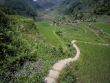 Path Through Fields Leading to the Ifugao Village of Banga-An, Island of Luzon, Southeast Asia Photographic Print by Bruno Barbier