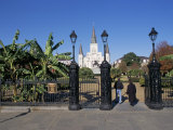 Jackson Square, St. Louis Cathedral, New Orleans, Louisiana, USA Photographic Print by Bruno Barbier