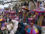Basket-Work Market, Axoum (Axum) (Aksum), Tigre Region, Ethiopia, Africa Photographic Print by Bruno Barbier